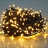 SALCAR 25,7m 360 Leds Cadena de Luces IP44 Impermeable, LED Luz Cadena Ligera Navidad, Led Cadena Luminosa con 8 Modos, Led Decoración Interior Exterior para Jardín Balcón Fiestas (Blanco cálido)
