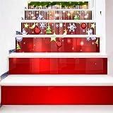 XUE - Pegatinas para Decorar escaleras, diseño de Globo de Navidad