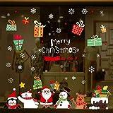 UMIPUBO Pegatinas de Navidad Dibujos Animados de Puerta de Cristal Dibujo Navidad Pared Decorativos Cabina de Navidad la decoración del hogar de Ventana Pegatinas de Pared Decorativos