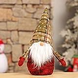 Handfly Muñeco de Peluche Hecho a Mano Navidad gnomo Santa Mesa de Peluche gnomos de Navidad Sueco estatuilla Adorno decoración navideña Regalos Festivos