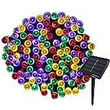Yasolote 22M Guirnalda de Luces Solares 8 Modos 200 LED Luces de Navidad de Exterior Impermeables para Decorar Patio, Jardín, Terraza, Boda, Fiesta, Navidad(Colores)