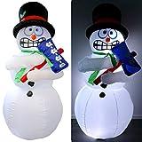 Tronje XL LED Muñeco de nieve Mr Frost 180cm inflable Función temblores Turbina Interior y Exterior
