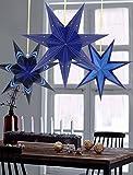 Sunbeauty Paquete de 3 Piezas Estrella de Navidad Decoracione para la Navidad Fiesta Cumpleaños Adorno de Hogar Dormitorio Mesa