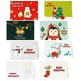 HOWAF 32 Piezas Tarjetas de Navidad, Tarjetas de Regalo de Felicitación de Feliz Navidad Año Nuevo Postal Regalo con Sobres para Familiares Amigos Adultos niños