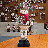 Ohhome Decoración navideña Muñecas Hogar Papá Noel Elk Muñeco de Nieve Decoración de Ventana Suministros de Navidad