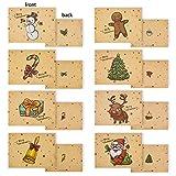 32 pcs Tarjeta de Felicitación de Sobres de Navidad Serie Santa Claus Patrones Diferentes