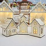 lunaanco Juguete Navidad Dormitorio Escritorio Decoración Regalo Oficina Hogar Decoraciones Navideñas Led Luminosos Cabañas Colgantes Adornos de Mesa (A)