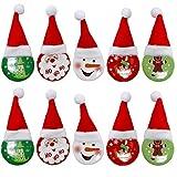THE TWIDDLERS Navidad Broche Pin de Aleación - Paquete de 20 Broches - 4 Diseños Diferentes - Lindo Ropa Accesorio, Hogar Decoración, Brooch Regalo Niños Niñas