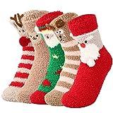 VBIGER 5 pares Calcetines de Invierno Calientes Calcetines Lindos de Navidad para Mujer