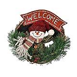 EZSTAX Coronas Navideñas Decoración de Navidad Papá Noel Colgante Árbol de Navidad Colgante Adornos