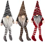 Navidad Santa GNOME BESTZY 3PCS Mini Gnomo Navideño de Felpa Muñeca de Tela de Santa Hecha a Mano Adornos Navideños para Arbol Adornos de Navidad para Mesa para Hogar Decoración Navideña