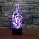 Símbolo de música luz luz Nocturna Juguete para niños lámpara de Mesa táctil Luces Intermitentes de Color Decoraciones navideñas