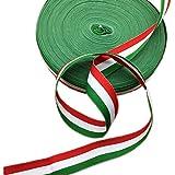 Cinturón de grogrén con bandera italiana de 45 metros de ancho, 2,5 m para decoración de fiestas, regalo de Navidad