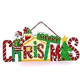 LAQI Decoración de Papá Noel Cartel Colgante Decoraciones navideñas para Decoraciones del hogar, Adornos navideños Decorados o Decoraciones para Puertas Colgantes