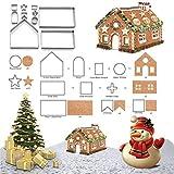 FantasyDay Moldes Galletas, Kit de 10 Piezas Cortador de Galletas Moldes para Galletas de Acero Inoxidable Navidad Diversas Formas Pastel Decorar, artesanía de Tartas, Moldeado de azúcar