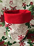 1KDreams - Mantel navideño de algodón. Diseño Elegante y Moderno. Shabby Chic en Llave Moderna. Fabricado en Italia.
