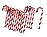 30 Piezas Bastones de Caramelo Decoración en Espiral Bastón de Caramelo Bastones de Caramelo Decoración de árbol de Navidad de plástico Rojo y Blanco, 13 cm