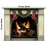 lepni.me Decoración de Navidad - Chimenea … (Medio, Verde)