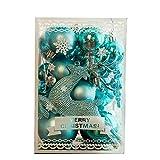 Yisily Ornamento De La Bola Inastillable Bolas De Navidad Surtidos Colgante Cuelgan Adornos De Navidad Bola Conjunto para Navidad Decoración Casera del Partido (30pcs / Set)