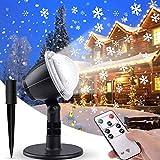 IREGRO Luces de Proyector Navidad Copos de Nieve Luz de nevadas Navidad Impermeable LED Exterior Decoración Luz de Proyector con Control Remoto Patrón para Fiesta, Navidad, Festivos,Valentín