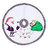 Queta Falda del árbol de Navidad, decoración de la Cubierta del Soporte del árbol de Navidad para el Centro Comercial Comercial del Restaurante del Hotel casero, Adorno de Navidad (Estilo-3)