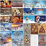 Caja con 100 tarjetas de Navidad 'NAVIDAD' de Edition Colibri: Juego de postales con una colorida combinación de tarjetas de Navidad con 25 diseños diferentes de 4 en un paquete fino (10642-10831)