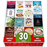 Pack De 30 Tarjetas De Felicitación De Navidad Surtidas, Postales Diseñadas Con Una Hermosa Mezcla De Citas De Navidad, Gran Selección
