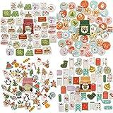 NLR adornos de Navidad pegatinas   183 piezas 84 diseños diferentes   Feliz Navidad decoración y sobres