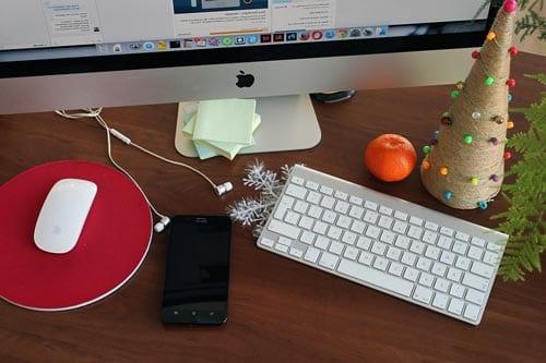 ambientacion navideña para oficinas