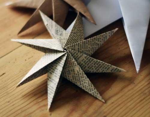 arbol de navidad de papel