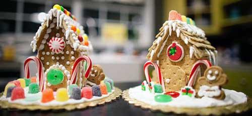 casitas de jengibre navidad