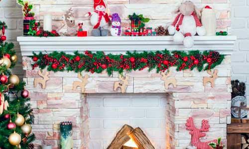 chimeneas de carton para navidad