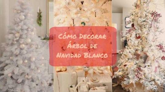 como decorar arbol de navidad blanco