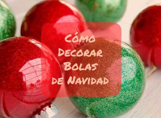como decorar bolas de navidad