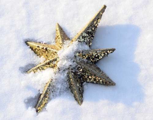 como decorar estrella de navidad