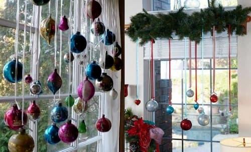 como decorar ventanas en navidad con luces