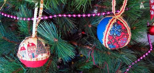 como hacer bolas de navidad