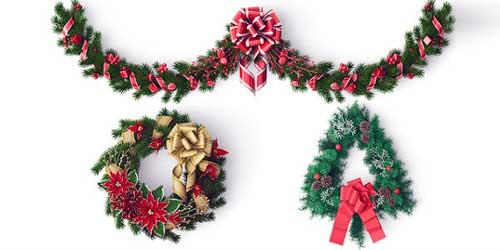 como hacer guirnaldas navideñas