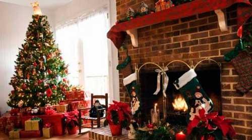 como hacer una chimenea de navidad