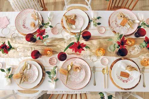 decoracion de mesa para navidad