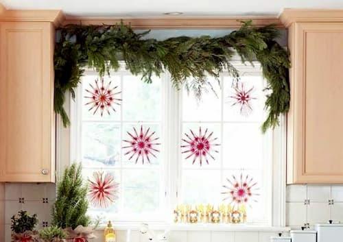 decoracion de navidad de ventanas