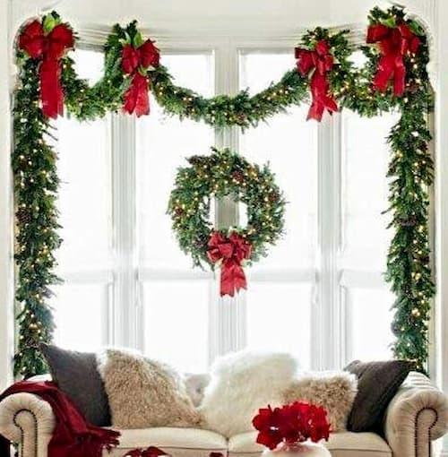 decoracion de ventanas navideñas