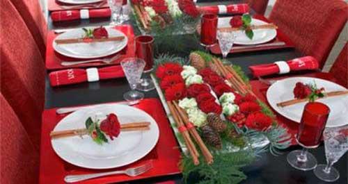 decoracion mesa navidad manualidades