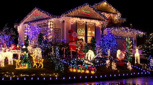 decoracion navideña exterior con luces