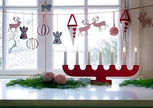 decoracion navideña para ventanas