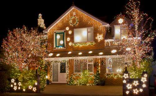 decoracion navideña en exterior