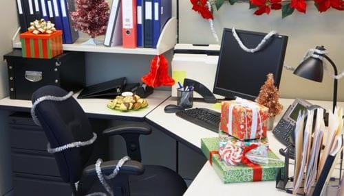 decoracion navideña para oficinas