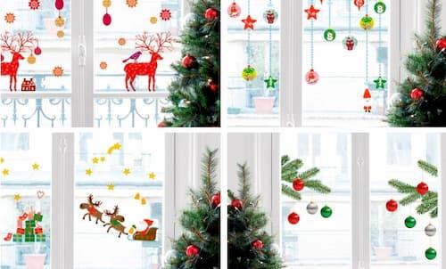 decoracion ventanas navidad