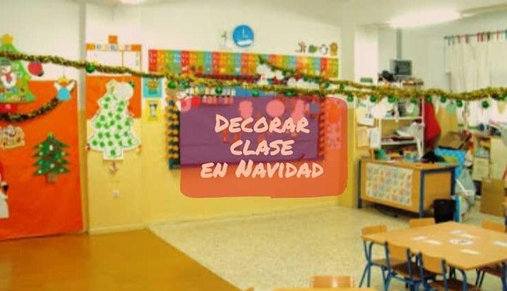 decorar clase navidad