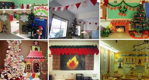decorar la clase navidad
